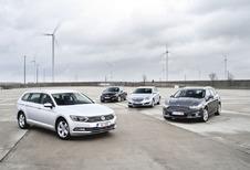 Ford Mondeo Clipper 2.0 TDCi 150, Peugeot 508 SW 2.0 BlueHDi 150, Opel Insignia Sports Tourer 2.0 CDTI ecoFLEX et Volkswagen Passat Variant 2.0 TDI 150 : Cargos dans le vent