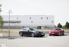 Porsche Panamera 4 E-Hybrid vs Tesla Model S 100 D