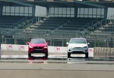 Jaguar I-Pace in sprintduel met de Tesla Model X!