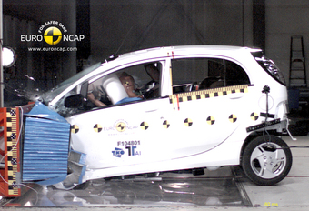 BOTSAUTO OP BATTERIJEN: Euro NCAP test veiligheid Mitsubishi i-MiEV #1