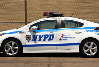 GROENE ACHTERVOLGING: NYPD met Chevrolet Volt #1