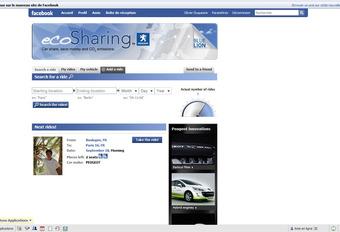 Peugeot EcoSharing op Facebook #1