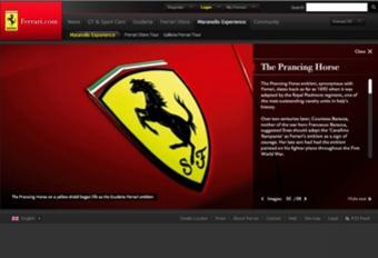 Nieuwe website voor Ferrari #1