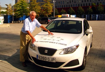 2,34 l/100 km in een Seat Ibiza Ecomotive #1