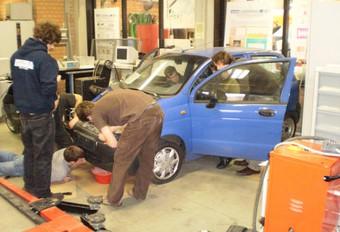 K.U.Leuven bouwt elektrische Chevrolet Matiz #1