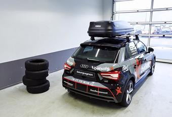 Audi A1 eert uitgebrande RS6 DTM van Jon Olsson #1
