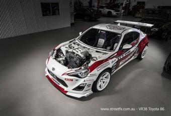 Toyota GT86 met opgepepte V6 van Nissan GT-R #1