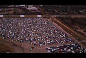 Blik uit de lucht op de door VW USA teruggekochte auto's #1