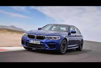 BMW M5 : images en fuite avec une vidéo #1
