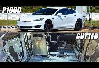 Record met Tesla Model S P100D 'Superleggera' #1
