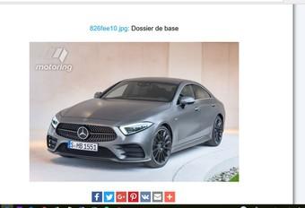 Mercedes CLS: foto uitgelekt #1