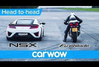 Honda NSX vs Honda CBR1000RR Fireblade #1