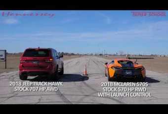 Dragrace: McLaren 570S vs Jeep Grand Cherokee Trackhawk #1