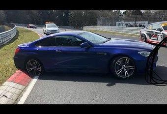 BMW M6 verliest band op Nürburgring #1