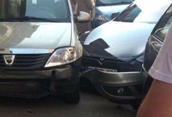 Tesla-bestuurder probeert zijn auto van ongeval te beschuldigen #1