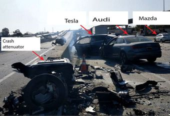 Accident Tesla Model X : le conducteur ne tenait pas le volant #1