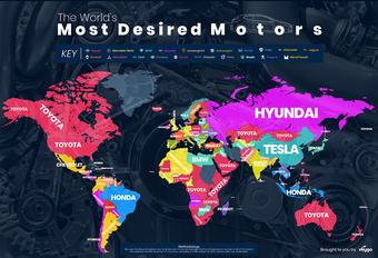 Wat zijn de populairste automerken per land? #1
