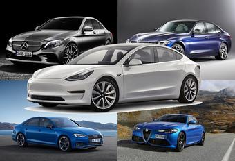 Tesla Model 3 troeft Europese premium concurrentie af #1