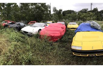INSOLITE – 11 Ferrari abandonnées sur un terrain vague #1