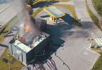 Explosion d'une station hydrogène en Norvège #1