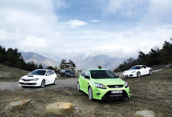 Ford Focus RS, Mitsubishi Lancer Evolution, Porsche Cayman S & Subaru Impreza WRX STi : Pure Trekkracht #1