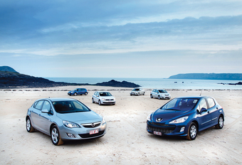 Ford Focus 1.6 TDCi 109, Opel Astra 1.7 CDTI 110, Peugeot 308 1.6 HDi 110, Renault Mégane 1.5 dCi 110, Toyota Auris 1.4 D-4D 90 & Volkswagen Golf 1.6 TDI 105 : De betere middenmoot #1