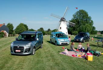 Citroën Berlingo 1.6 HDi 110, Fiat Doblo 1.6 MultiJet 110 & Renault Kangoo 1.5 dCi 105 : Les chouchous des familles #1