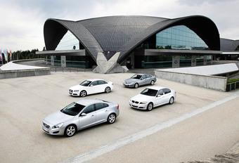 Audi A4 2.0 TDI 120, BMW 3-Reeks 316d, Mercedes C-Klasse 180 CDI en Volvo S60 DRIVe : Toegangsticket #1