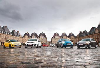 Kia Rio 1.4, Mazda 2 1.5, Nissan Micra 1.2DIG-S, Opel Corsa 1.4, Toyota Yaris 1.3 en Volkswagen Polo 1.4 : Kleintjes met karakter #1