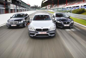 BMW M5, Jaguar XFR & Mercedes E 63 AMG : Persluchtkanonnen #1