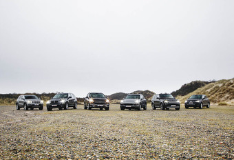 Volkswagen Touareg 3.0 V6 TDI 204, Porsche Cayenne Diesel 211, Range Rover Sport TDV6 211, Jeep Grand Cherokee 3.0 CRD 190, BMW X5 30d 211 en Mercedes ML 250 BlueTec : Less is more? #1
