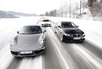 Audi R8 R-Tronic, BMW M3 Coupé DKG en Porsche 911 Carrera S PDK : Super G #1