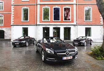 BMW 650i Cabrio, Jaguar XK Cabrio en Mercedes SL 500: Gran Turismo aperto #1