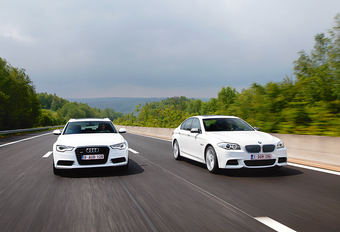 Audi A6 biturbo TDI vs BMW M550d #1
