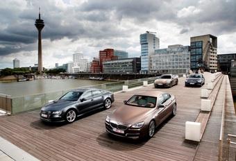 Audi A7 Sportback 3.0 TDI 313, BMW 640d GranCoupé, Mercedes CLS 350 CDI en Porsche Panamera Diesel : Grote sier #1