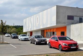 Alfa Romeo Giulietta 1.6 JTDM, BMW 116d EDE, Citroën DS4 1.6 HDi 112, Mercedes A 180 CDI et Volvo V40 D2 : Star academy #1