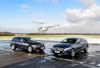 Jaguar XF 2.2 Td Sportbrake & Mercedes CLS 250 CDI Shooting Brake : Stijl en volume #1