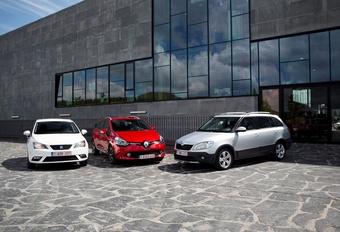 Renault Clio Grandtour 1.5 dCi 90, Seat Ibiza ST 1.6 TDI 90 en Skoda Fabia Combi 1.6 TDI 90 : Variaties op een break #1