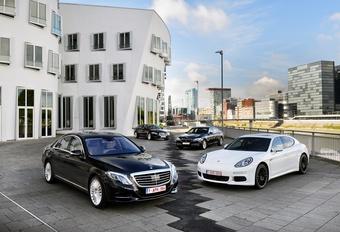 BMW 730d, Jaguar XJ 3.0 TD, Mercedes S 350 BlueTEC en Porsche Panamera Diesel : Het hoogste niveau #1