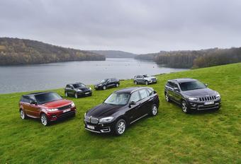 BMW X5 xDrive 30d, Jeep Grand Cherokee 3.0 CRD, Land Rover Range Sport 3.0 SDV6, Mercedes ML 250 CDI en Porsche Cayenne Diesel : Weightwatchers #1