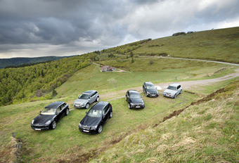 Audi Q5 3.0 TDI quattro, BMW X3 xDrive 30d, Mercedes GLK 250 BlueTEC, Porsche Macan S Diesel, Range Rover Evoque SD4 en Volvo XC60 D5 : Beierse machtsgreep #1