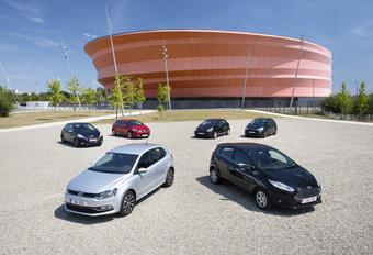 Citroën C3 1.6 e-HDi 92, Ford Fiesta 1.6 TDCi 95 ECOnetic, Kia Rio 1.4 CRDi 90, Peugeot 208 e-HDi 92, Renault Clio 1.5 dCi 90 en Volkswagen Polo 1.4 CRTDI 90 BMT : Kleine werkmieren #1