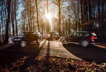 BMW X5 30D // MERCEDES ML 350 BLUETEC // RANGE ROVER SPORT SDV6 : Crossen door de bossen #1