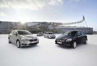 BMW Série 2 Active Tourer, Mercedes Classe B, Opel Zafira et Volkswagen Golf Sportsvan : Cinq à sept #1