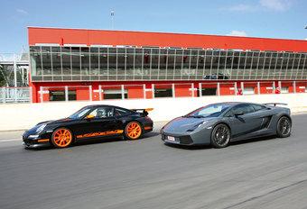 LAMBORGHINI GALLARDO SUPERLEGGERA // PORSCHE 911 GT3 : Toys for boys #1
