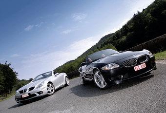 BMW Z4 M • MERCEDES SLK 55 AMG : Rollende spieren #1