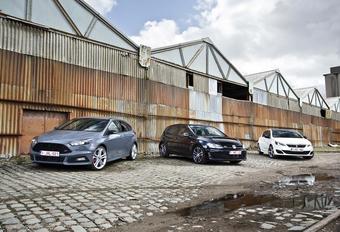 Ford Focus ST TDCi, Peugeot 308 GT HDi en Volkswagen GTD : Sporten en sparen #1