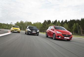 Opel Corsa OPC, Peugeot 208 GTi by Peugeot Sport en Renault ClioRS : Bommetjes op wielen #1