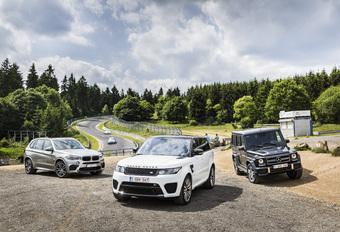BMW X5 M, Range Rover SVR et Mercedes-AMG G63 : La manière forte #1