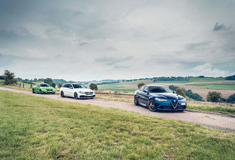 ALFA ROMEO GIULIA QUADRIFOGLIO // BMW M4 COUPE COMPETITION // MERCEDES-AMG C 63 S BREAK : Donder- dagen #1